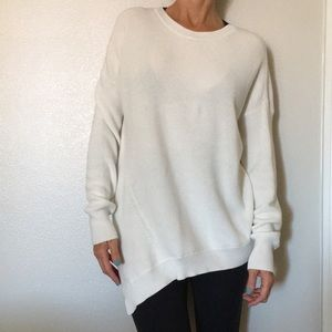 {Athleta} White longsleeve sweater small